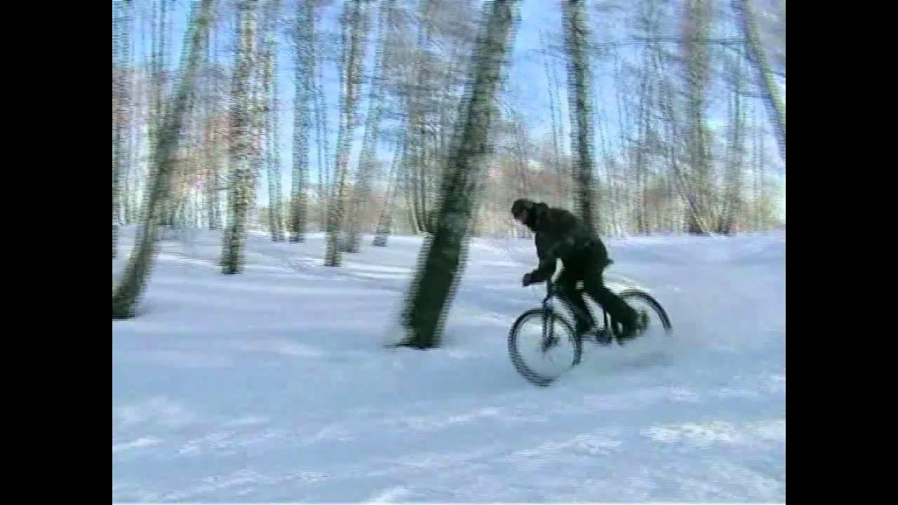 Зимой лучше не надо ездить на велосипеде