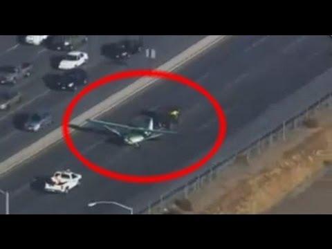 Самолет совершает экстренную посадку на шоссе