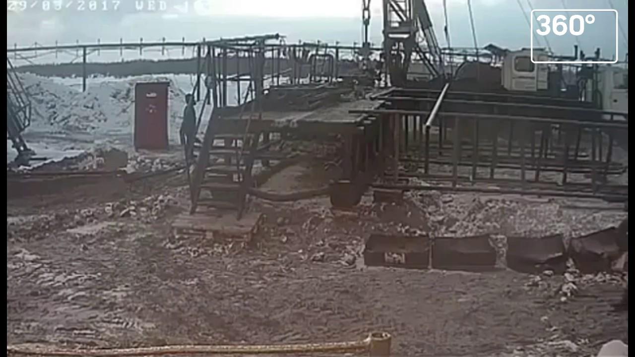 Взрыв с псж на буровой в Тюменской области