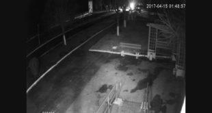 Под Витебском камеры видеонаблюдения засняли необычный феномен. Призрак человека?