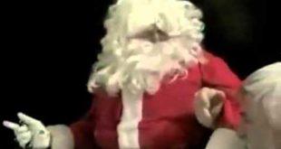 Санта появился с крыши но довольно жестко