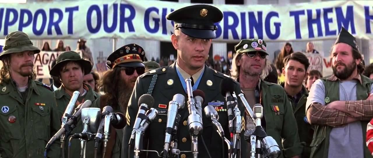 Что сказал Форест Гамп на антивоенном митинге ветеранов Вьетнама?