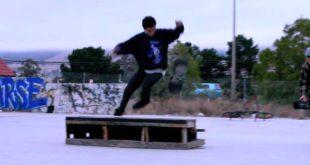 Шикарный трюк в скейтборде