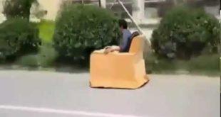 Решил поездить на кресле