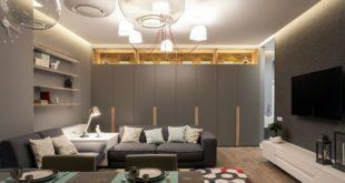 Интерьер большой комнаты в квартире