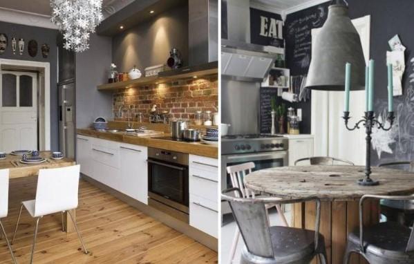 Как подобрать стулья и обеденный стол для интерьера в стиле лофт