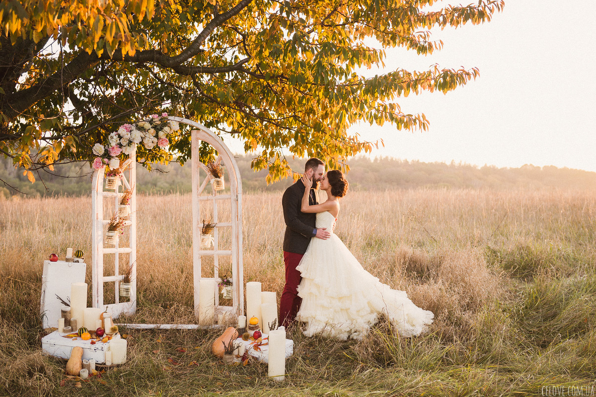 Осень — самый красивый свадебный сезон
